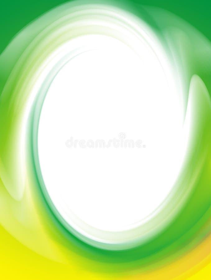 zielony ramowy niunię royalty ilustracja