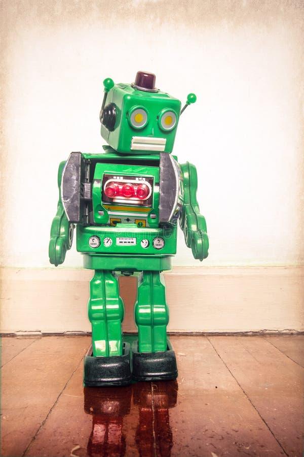 Zielony robota mężczyzna obraz royalty free