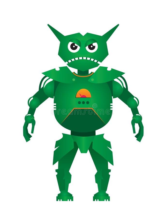 Zielony robota wektor royalty ilustracja
