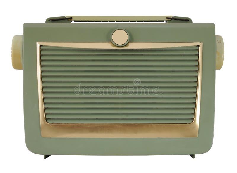 zielony rocznik radiowego zdjęcie stock