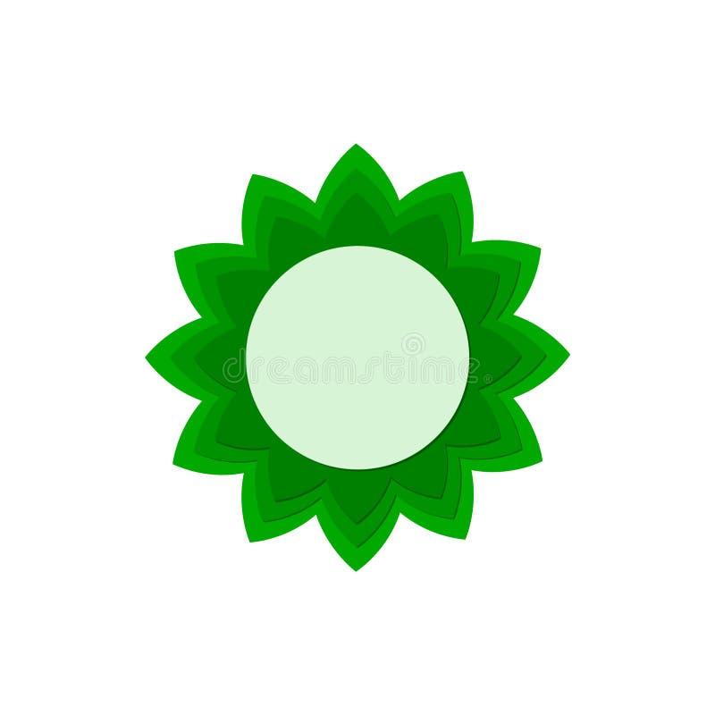 Zielony Słonecznikowy logo, kwiat ikony znak royalty ilustracja