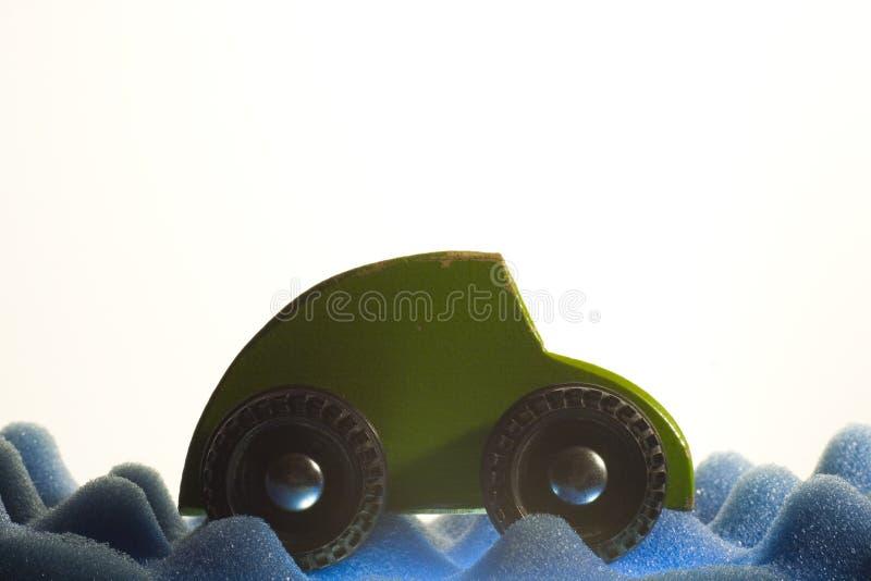 zielony samochód obrazy stock