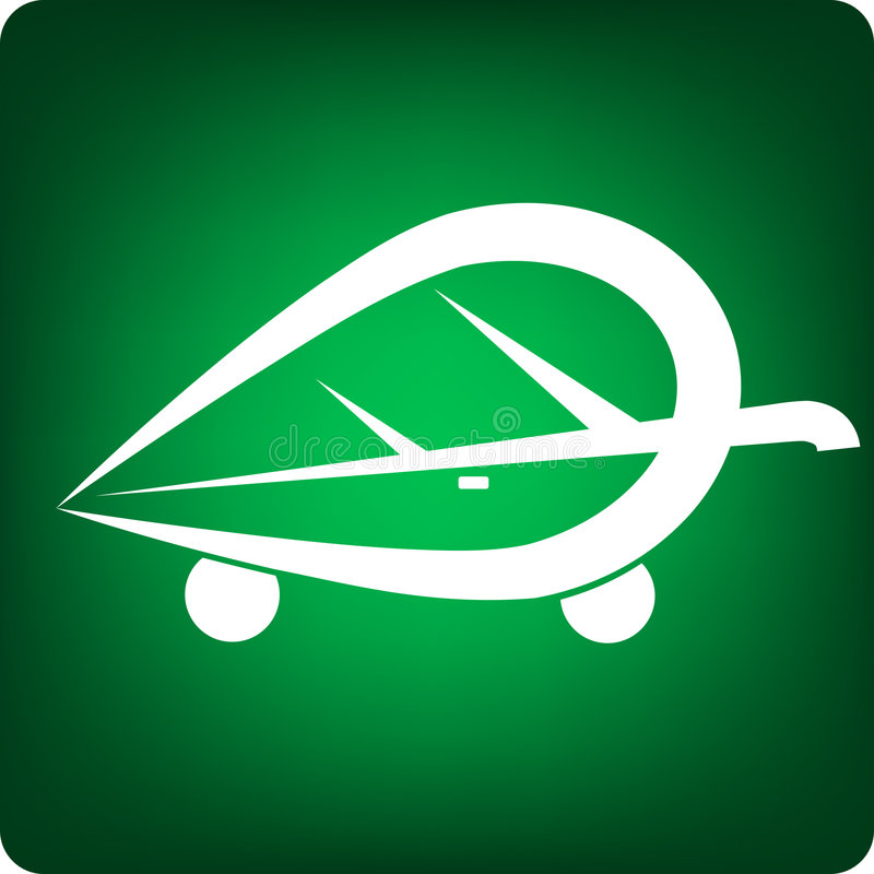 zielony samochód royalty ilustracja