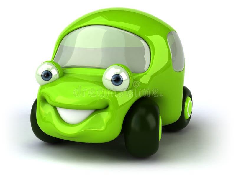 zielony samochód ilustracji