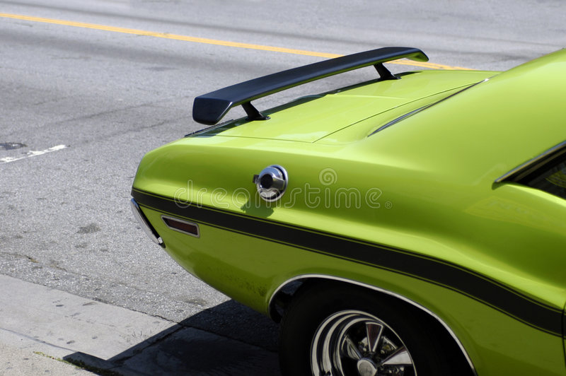zielony samochód mięsień obraz royalty free