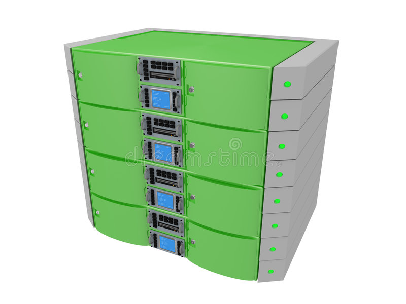 zielony serwera bliźniak ilustracja wektor