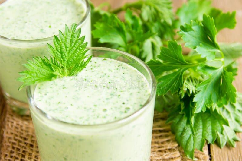 zielony smoothie zdjęcie stock