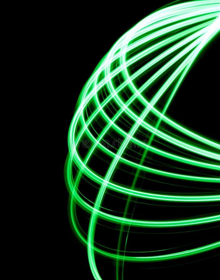 Zielony spirographic symetryczny kształt zdjęcie royalty free