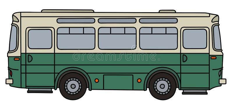 zielony stary autobusu royalty ilustracja