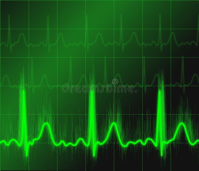 zielony sygnał ilustracja wektor