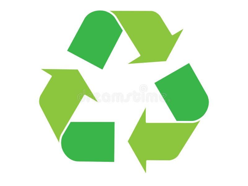 zielony symbol recyklingu royalty ilustracja