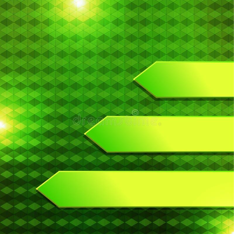 Zielony sześciokąta sztandar royalty ilustracja