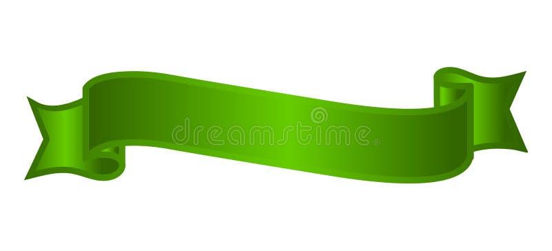 Zielony sztandaru wektor Sprzedaży etykietki ilustracja ilustracji