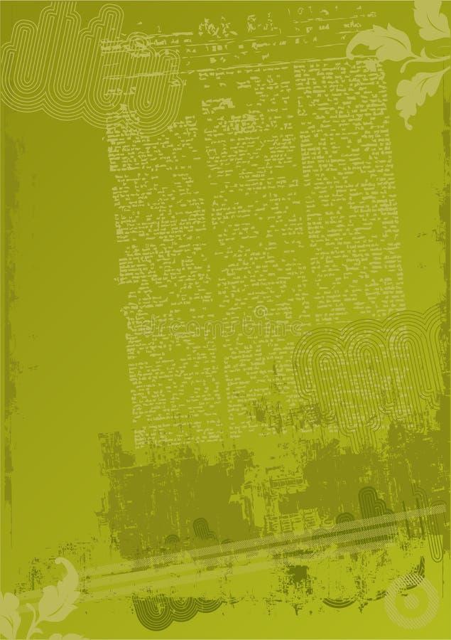 zielony tła crunch ilustracja wektor