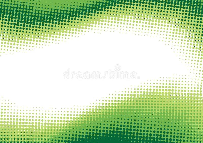 zielony tła halftone ilustracja wektor