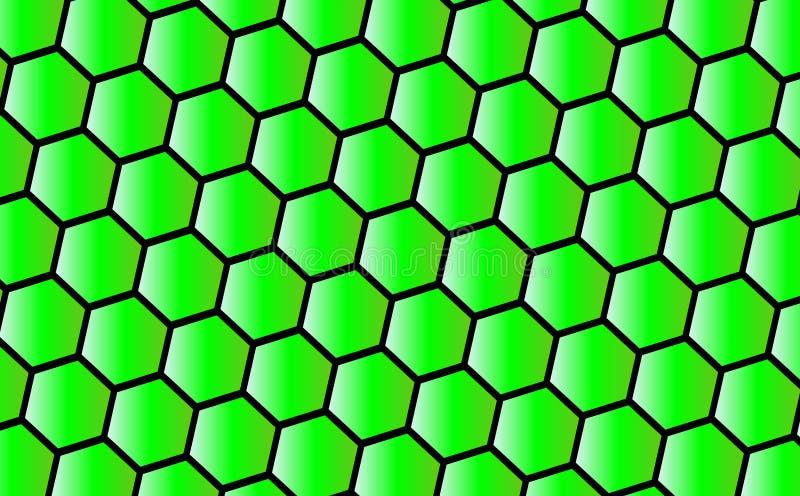 zielony tła honeycomb ilustracji