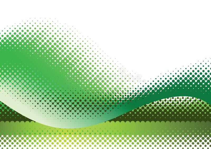 zielony tła kolory w półtonach royalty ilustracja