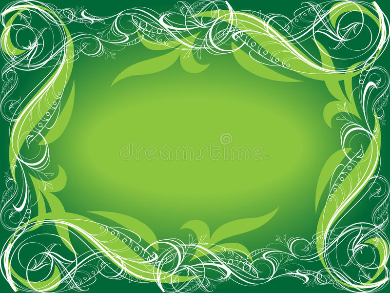 zielony tła ornamental ilustracji