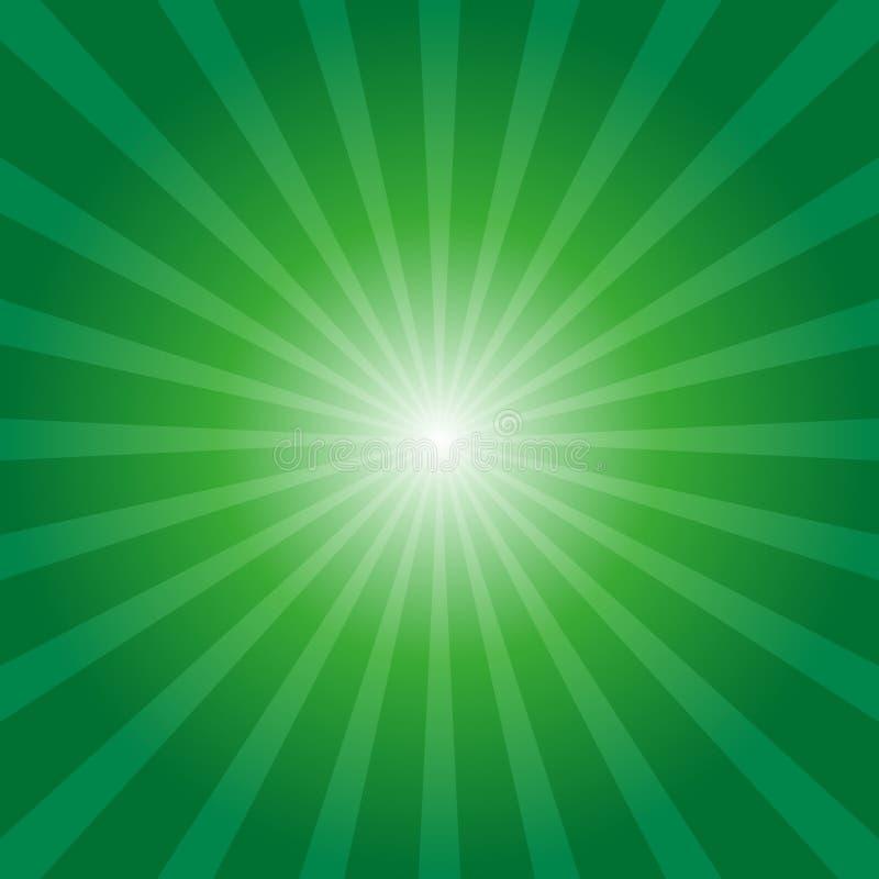 zielony tła sunburst ilustracji