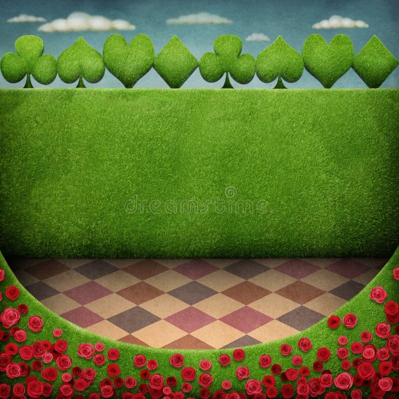 Zielony tło ilustracja wektor