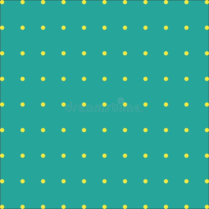 Zielony tło z żółci punkty na wektorze royalty ilustracja
