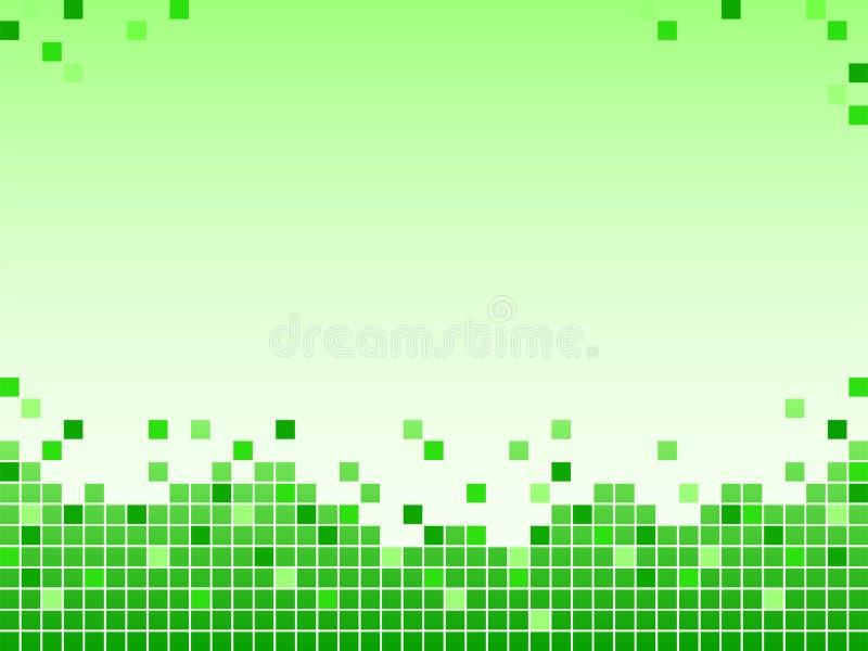 Zielony tło z pikslami obrazy royalty free