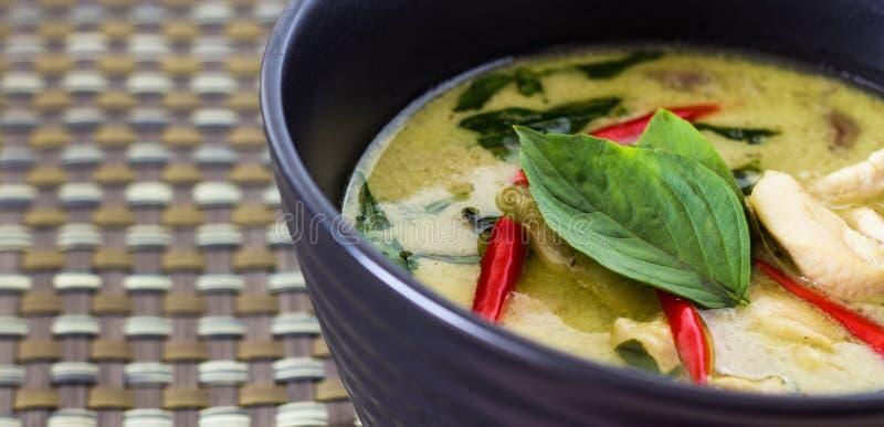 zielony tajski curry fotografia royalty free