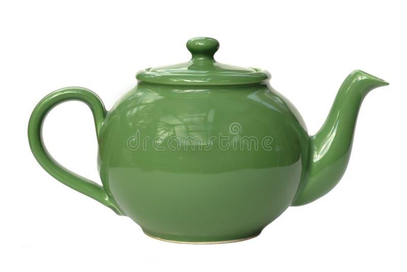 zielony teapot obrazy stock
