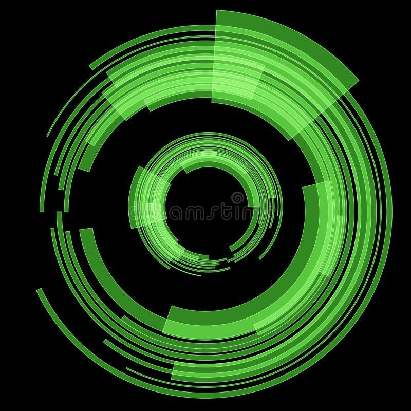 Zielony technika okrąg raster royalty ilustracja