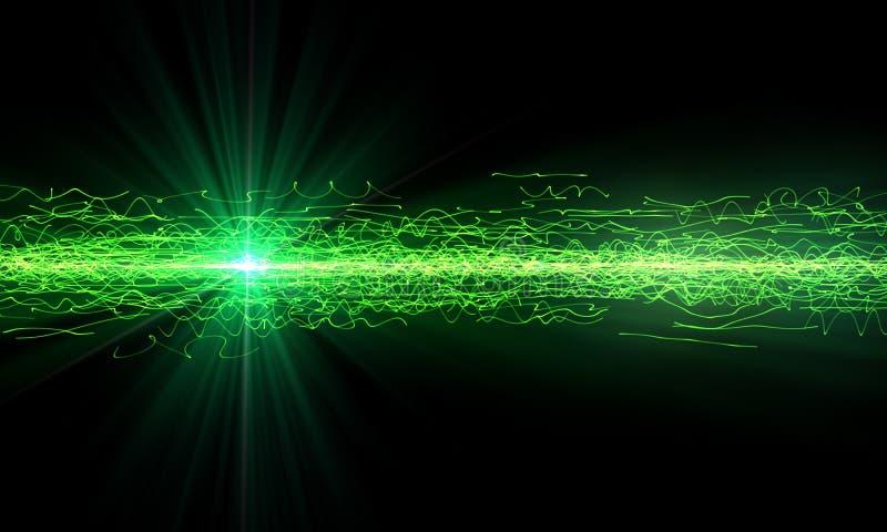 Zielony technologii tło ilustracja wektor