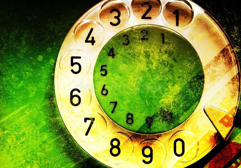 zielony telefon royalty ilustracja