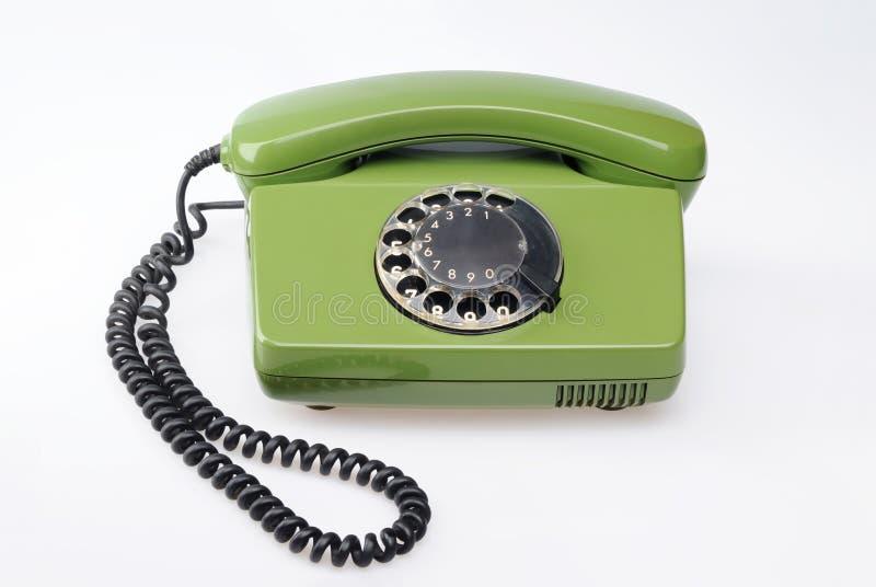 zielony telefoniczny rocznik obraz royalty free