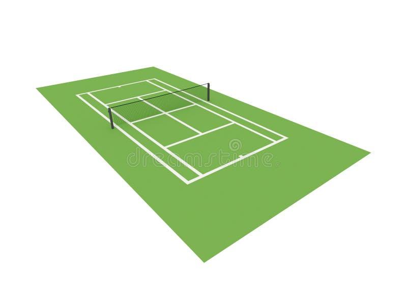 Zielony tenisowy sąd odizolowywający ilustracja wektor
