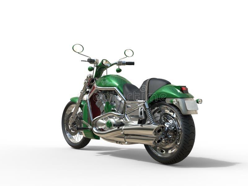 Zielony terenówka rower - Tylny widok fotografia royalty free