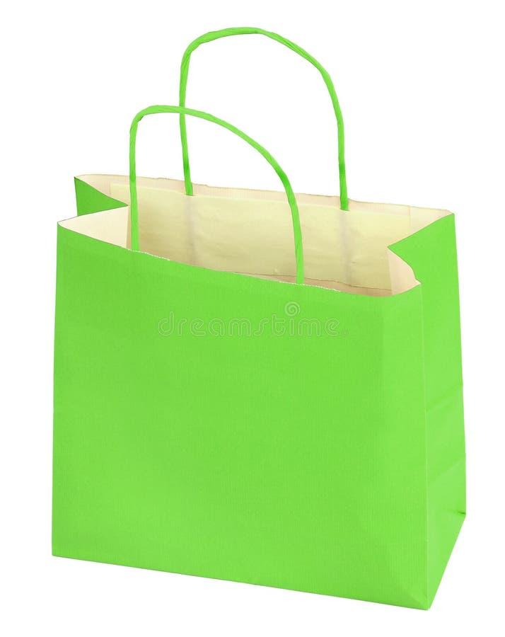 zielony torba zakupy obrazy royalty free