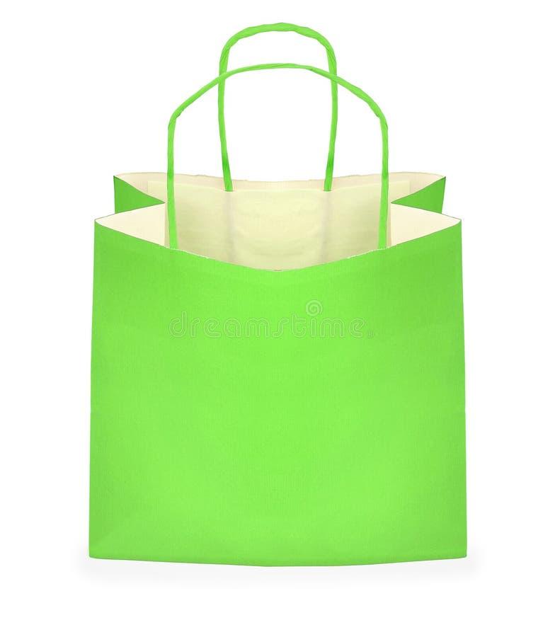 zielony torba zakupy zdjęcia stock