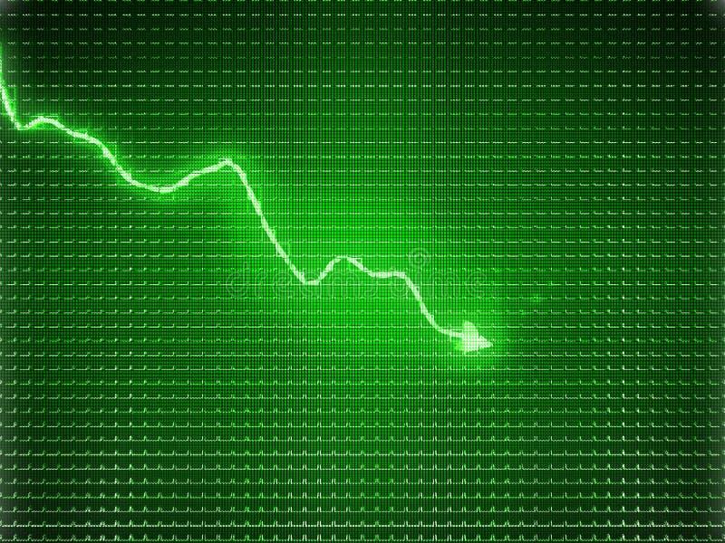 Zielony trendu wykres jako symbol biznesowy skracanie ilustracji
