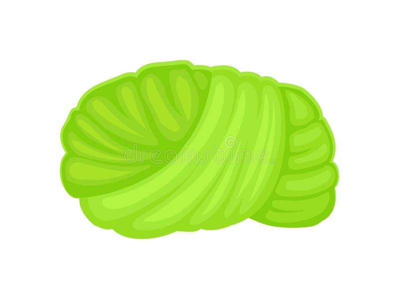 Zielony turban t?a ilustracyjny rekinu wektoru biel royalty ilustracja