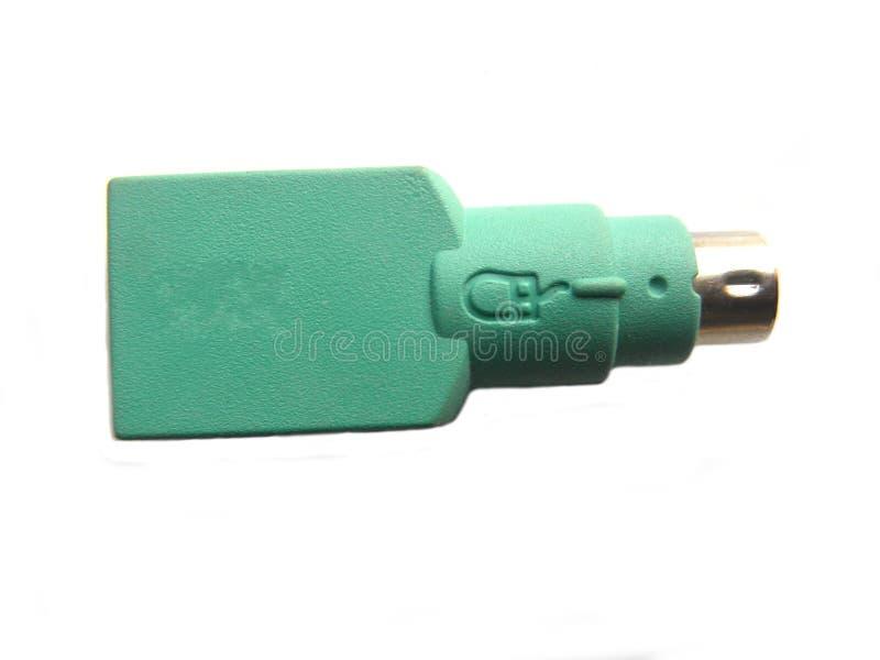 Zielony USB klawiatury i myszy adaptator obrazy royalty free