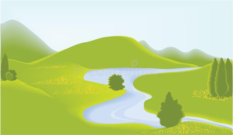 zielony valey ilustracji