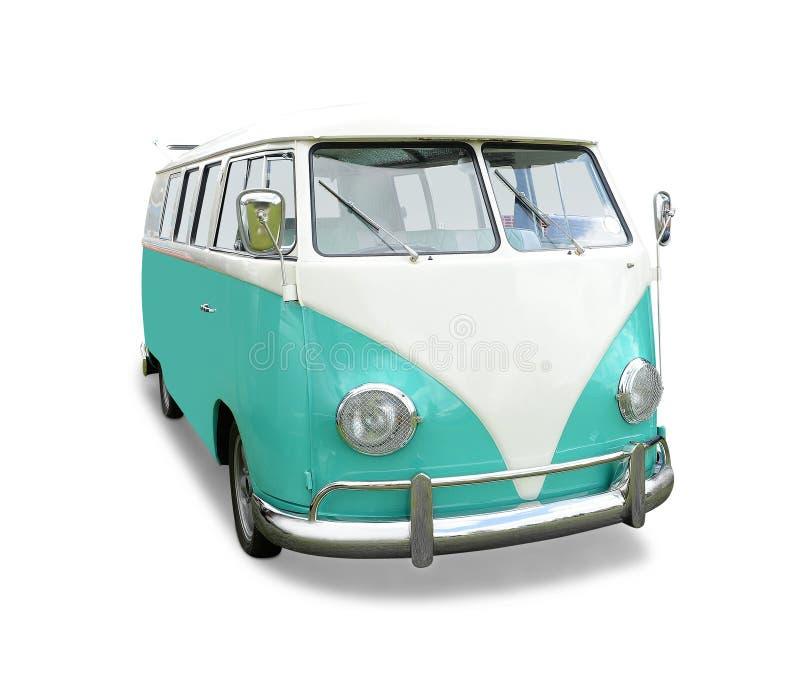 Zielony VW samochód dostawczy zdjęcia stock