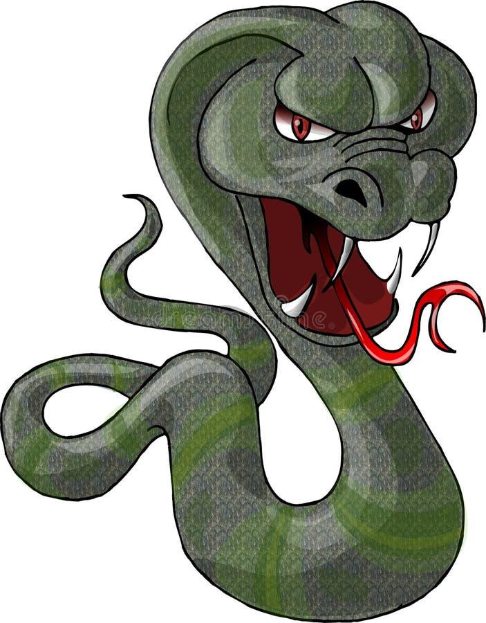 Download Zielony wąż ilustracji. Obraz złożonej z kreskówka, slither - 48857