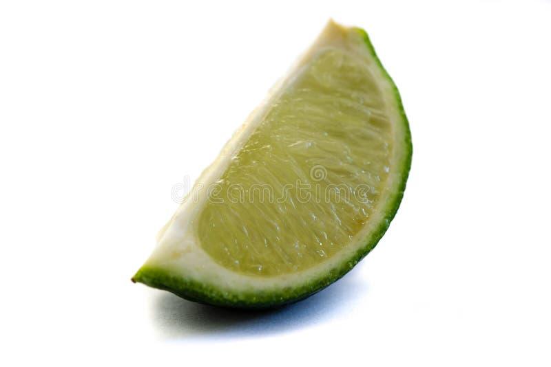 Zielony wapno odizolowywający na białym tle zdjęcia stock