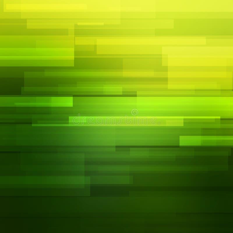 Zielony wektorowy abstrakcjonistyczny tło z liniami ilustracji