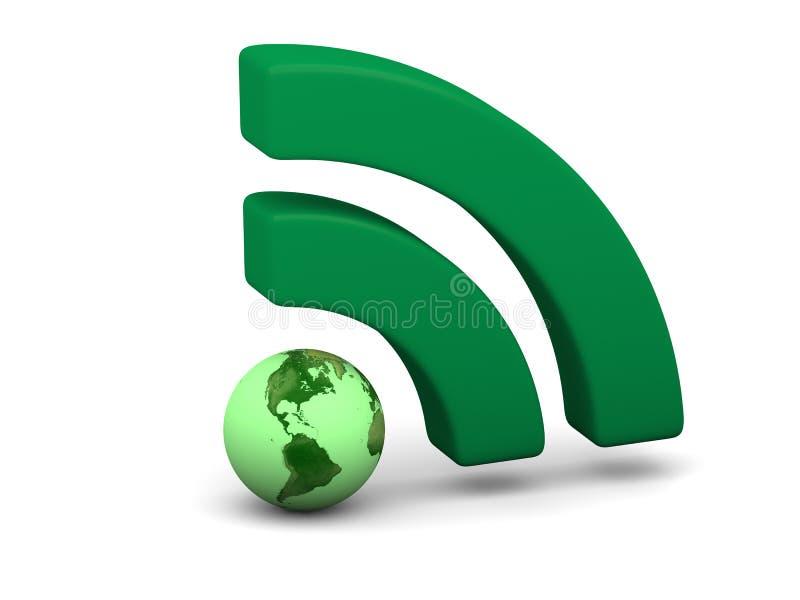 Zielony WiFi symbol ilustracji
