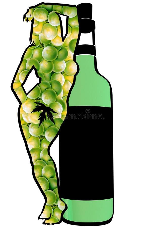 zielony wino royalty ilustracja