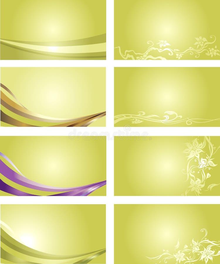 Zielony wizytówki tło ilustracji