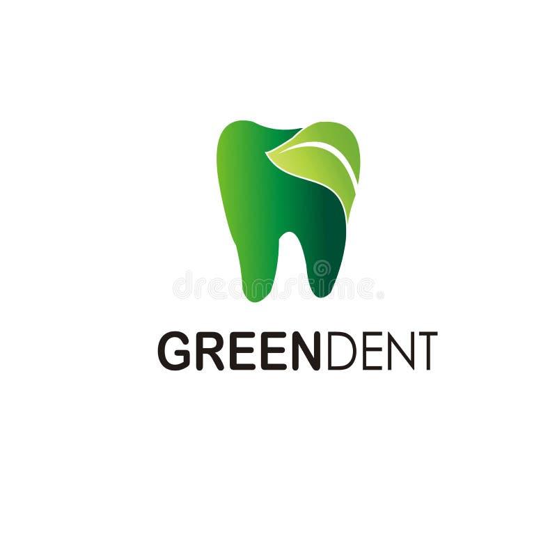 Zielony wklęśnięcie logo wektor ilustracji