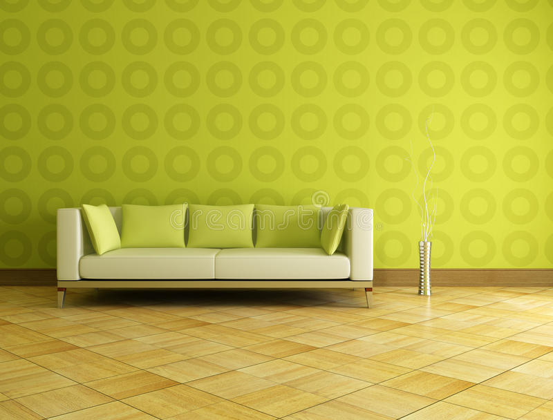 zielony wnętrze ilustracji