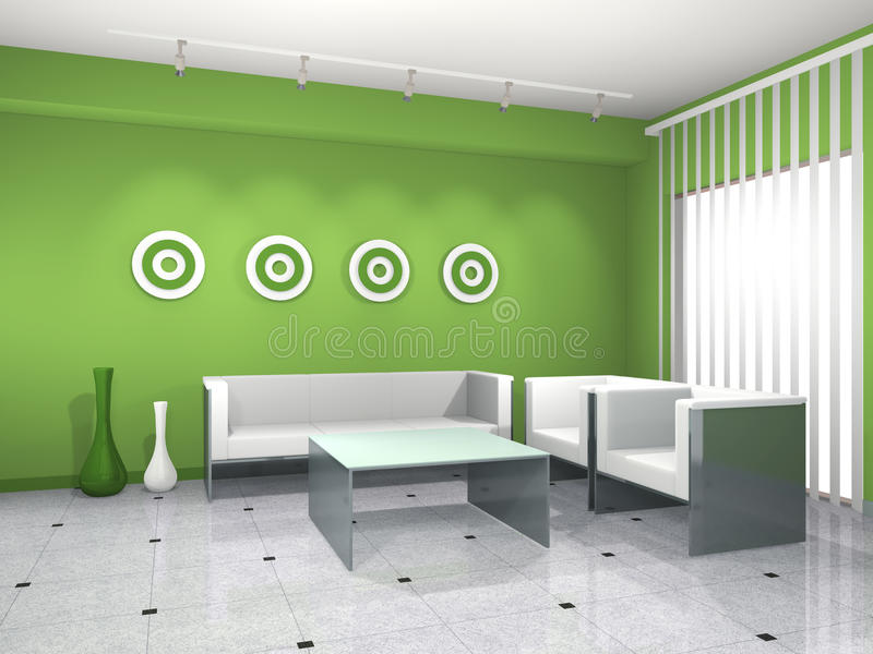 zielony wnętrze royalty ilustracja